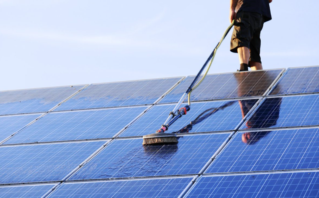 cleaning solar panels at home